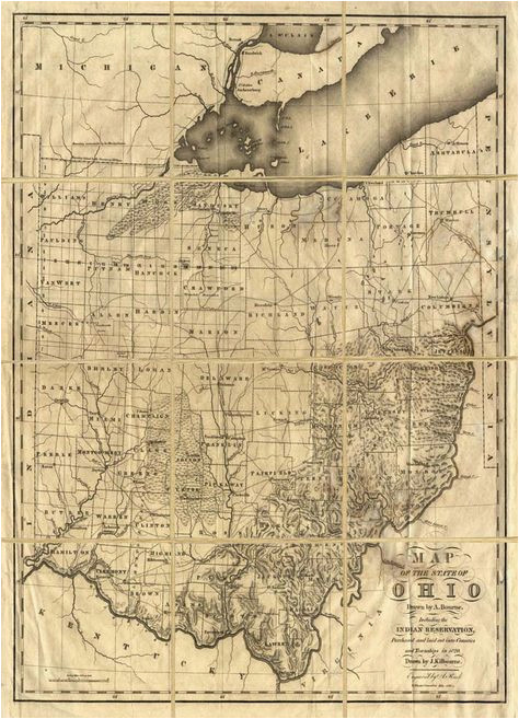 Adams County Ohio Map Map Of Ohio with Indian Reservations Adams County History