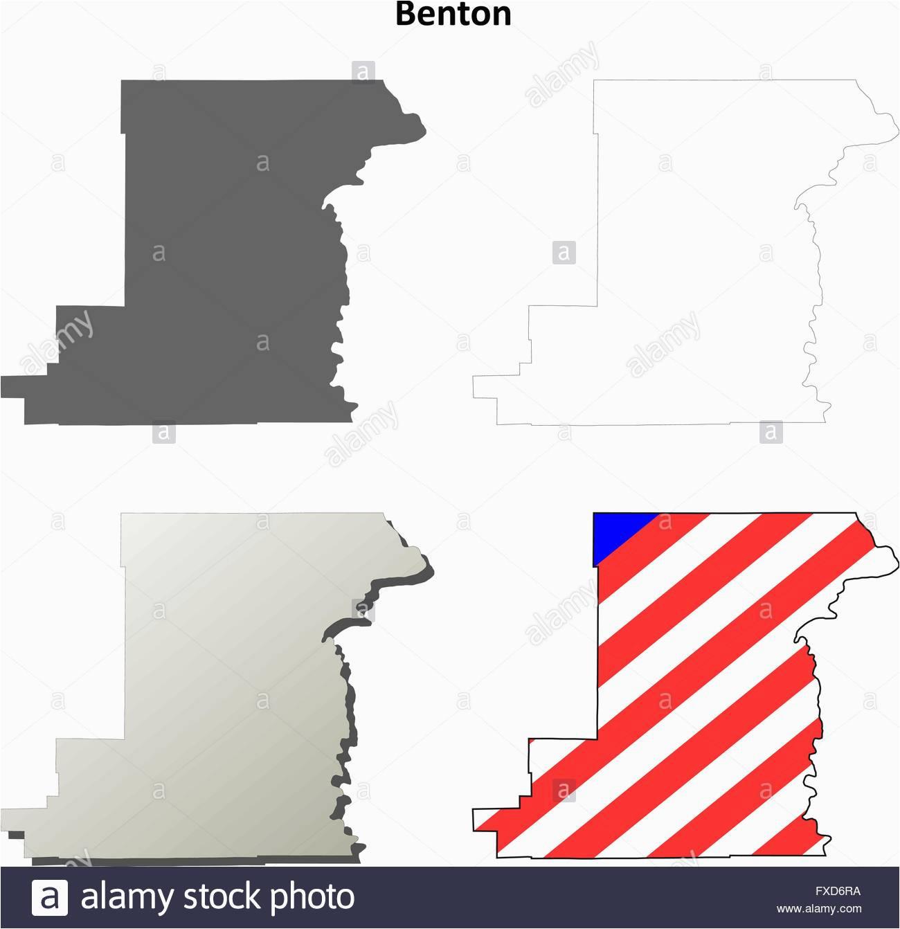 Benton County oregon Map Benton Map Stock Photos Benton Map Stock Images Alamy