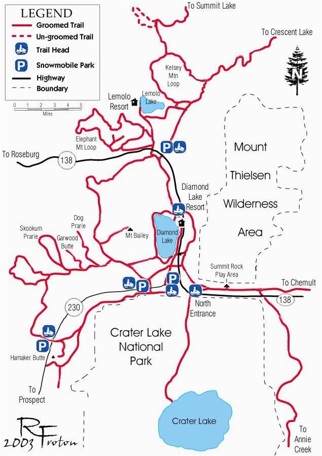 Diamond Lake oregon Map Diamond Lake Map Snowmobiles Diamond Lake oregon Vacation