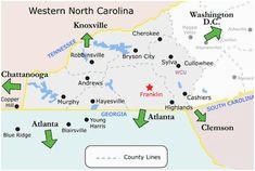 Franklin north Carolina Map 38 Best Bryson City Nc Images Franklin north Carolina Franklin Nc