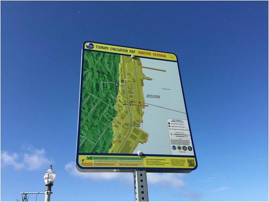 Map astoria oregon Tsunami Warning Sign Picture Of astoria oregon Riverwalk astoria