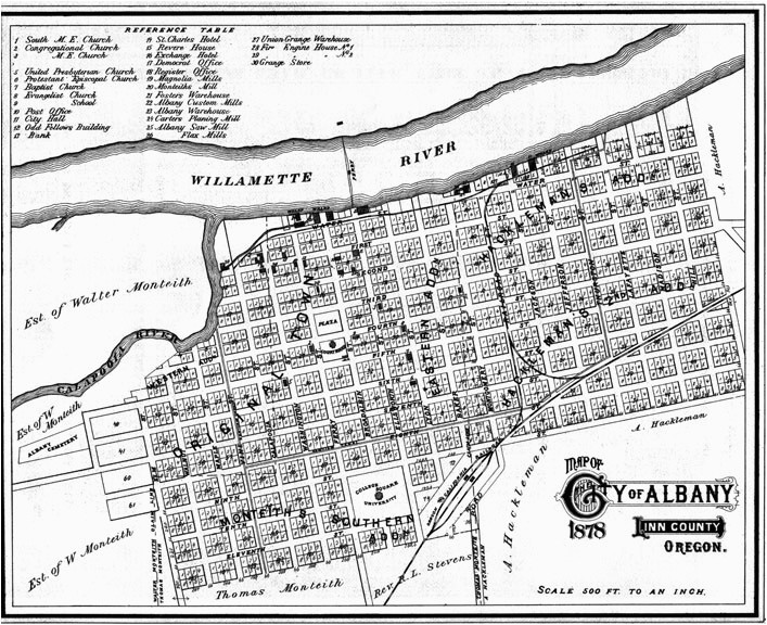 Map Of Albany oregon town Histories More Albany