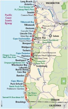 Map Of Cannon Beach oregon Simple oregon Coast Map with towns and Cities oregon Coast In