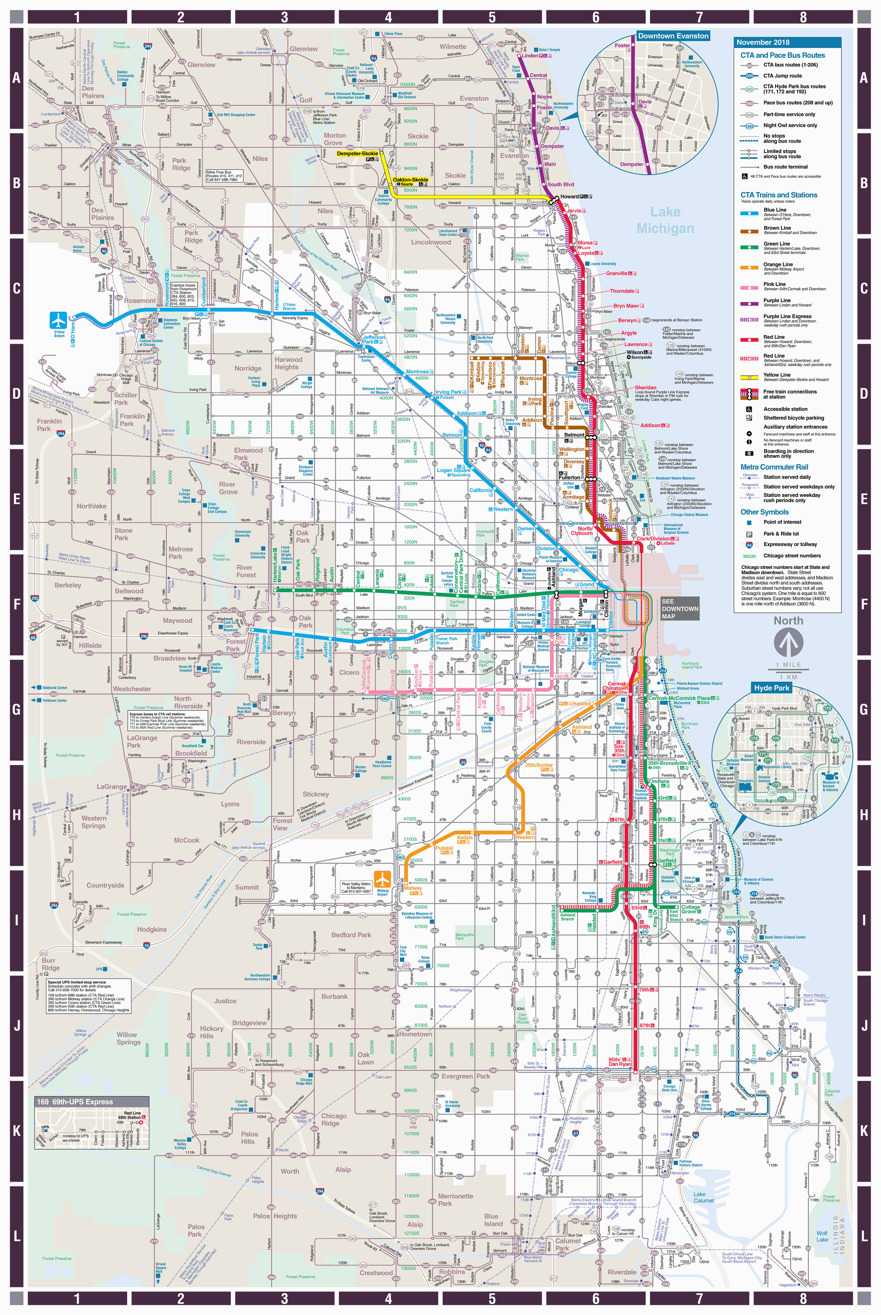 Map Of Michigan Ave Chicago Web Based System Map Cta