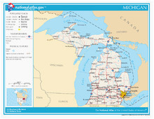 Map Of Michigan townships State Map Of Michigan with Cities Secretmuseum