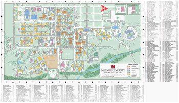 Miami Of Ohio Map Ohio U Campus Map Oxford Campus Map Miami University Click to Pdf