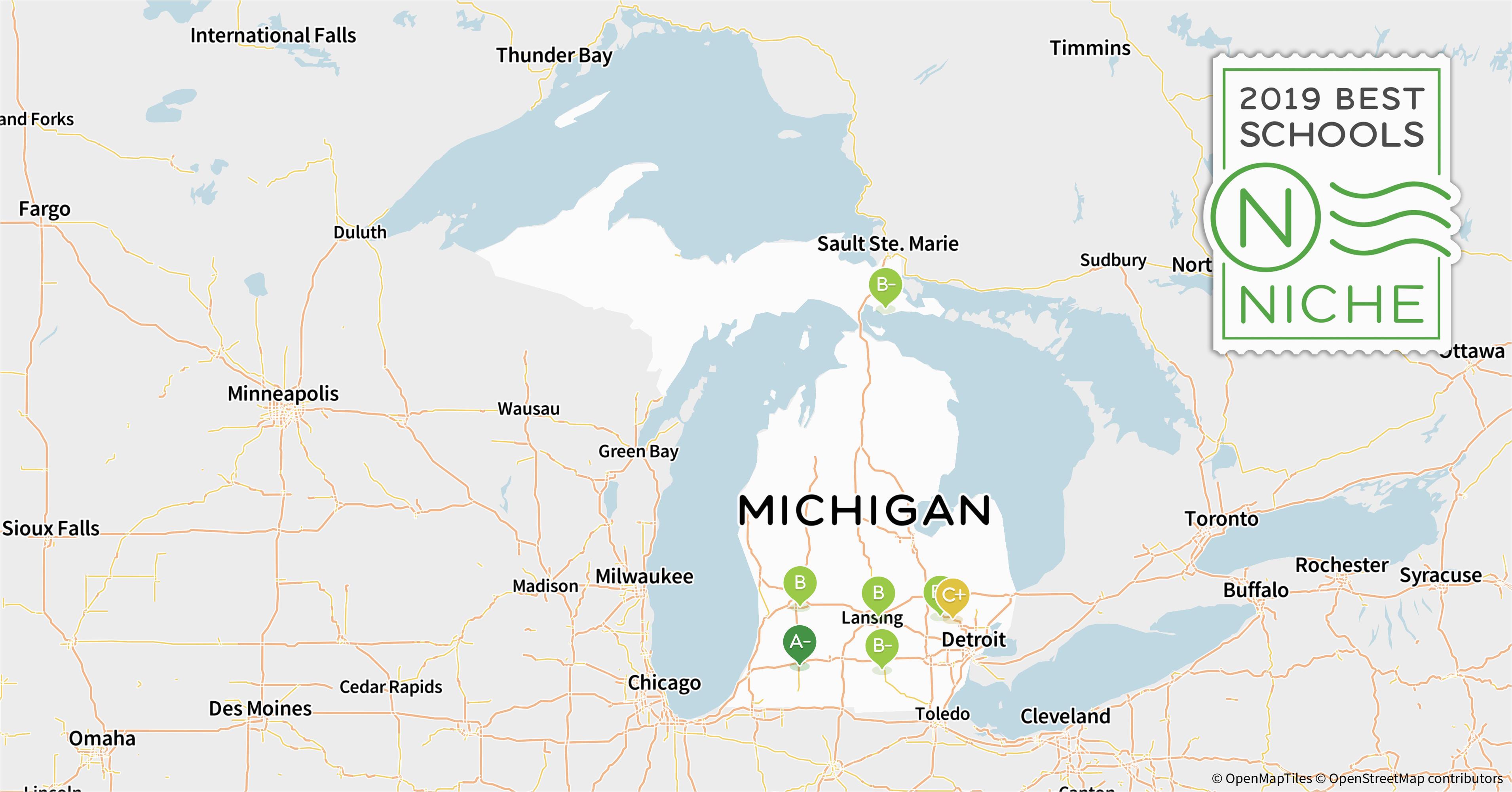 Michigan School District Maps 2019 Best Online High Schools In Michigan Niche