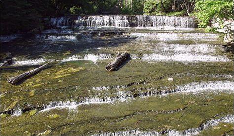 Michigan Waterfalls Map Au Train Michigan Map Au Train Waterfall Alger County Michigan