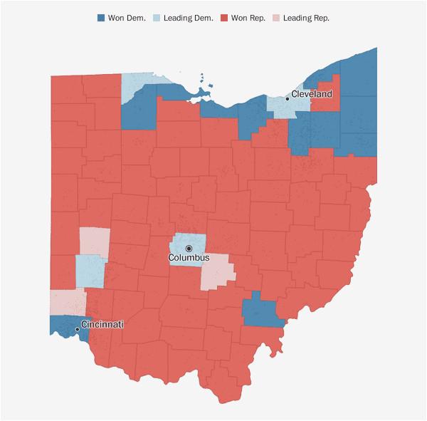 Ohio House Of Representatives Map Ohio Election Results 2018 the Washington Post