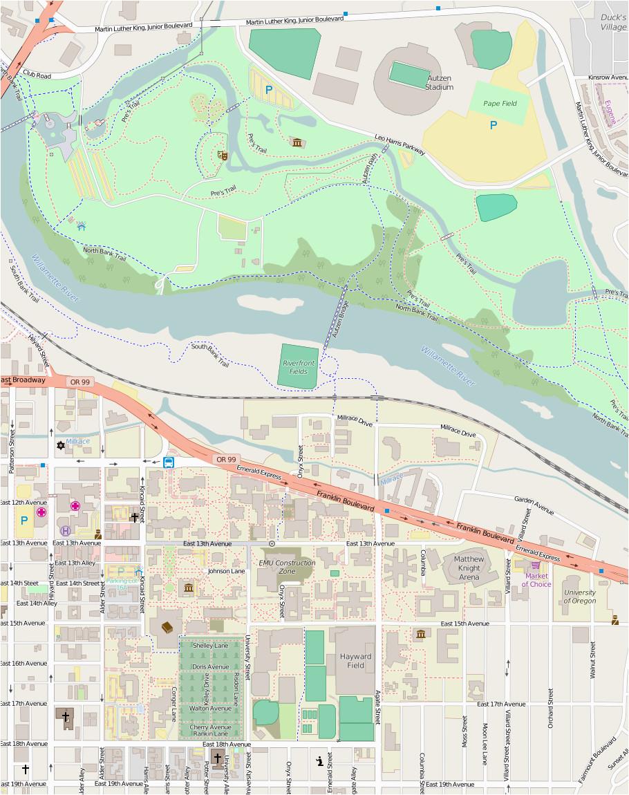 Oregon State Campus Map Pdf List Of University Of oregon Buildings Wikipedia