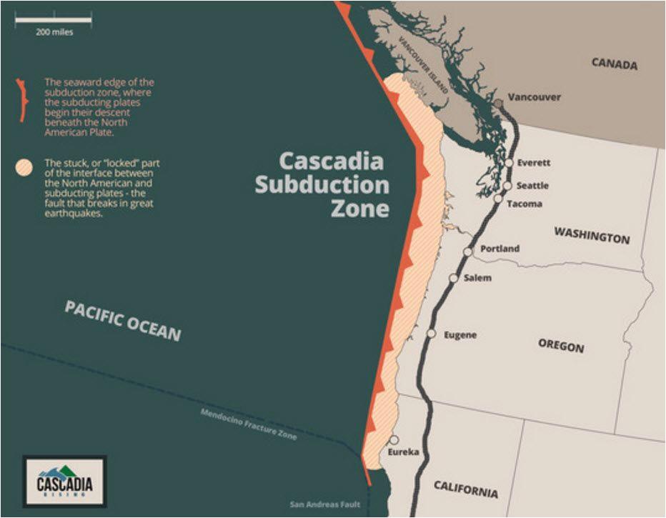 Tsunami Map oregon Fema Preparing for Magnitude 9 0 Cascadia Subduction Zone Earthquake
