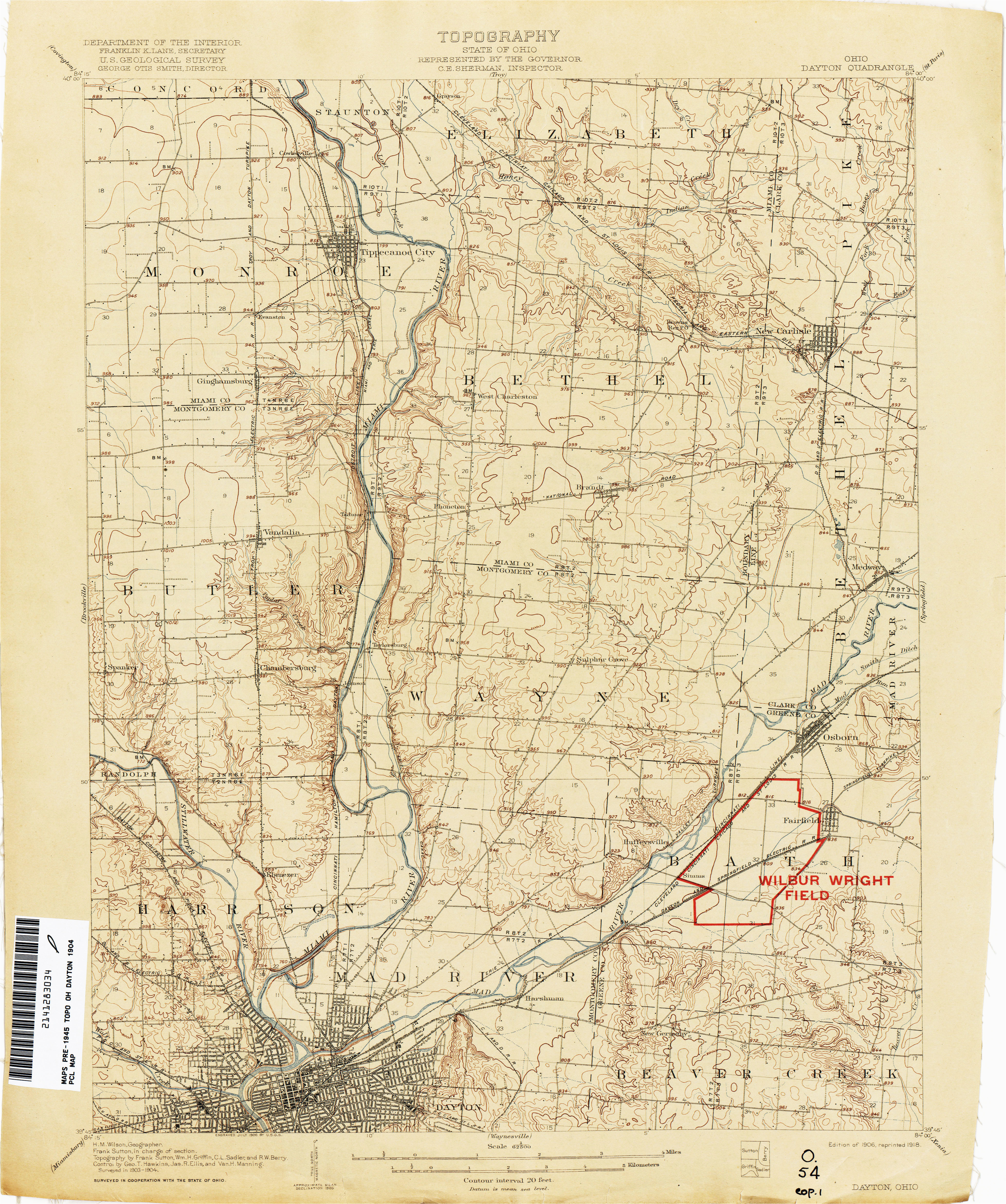 Map Of Brown County Ohio Ohio Historical topographic Maps Perry Castaa Eda Map Collection