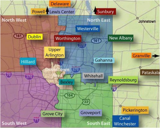 Map Of Kirtland Ohio Columbus Neighborhoods Columbus Oh Relocation Services Ohio