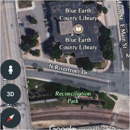 Map Of Mankato Minnesota Google Map Of the Blue Earth County Library Mankato Minn and the