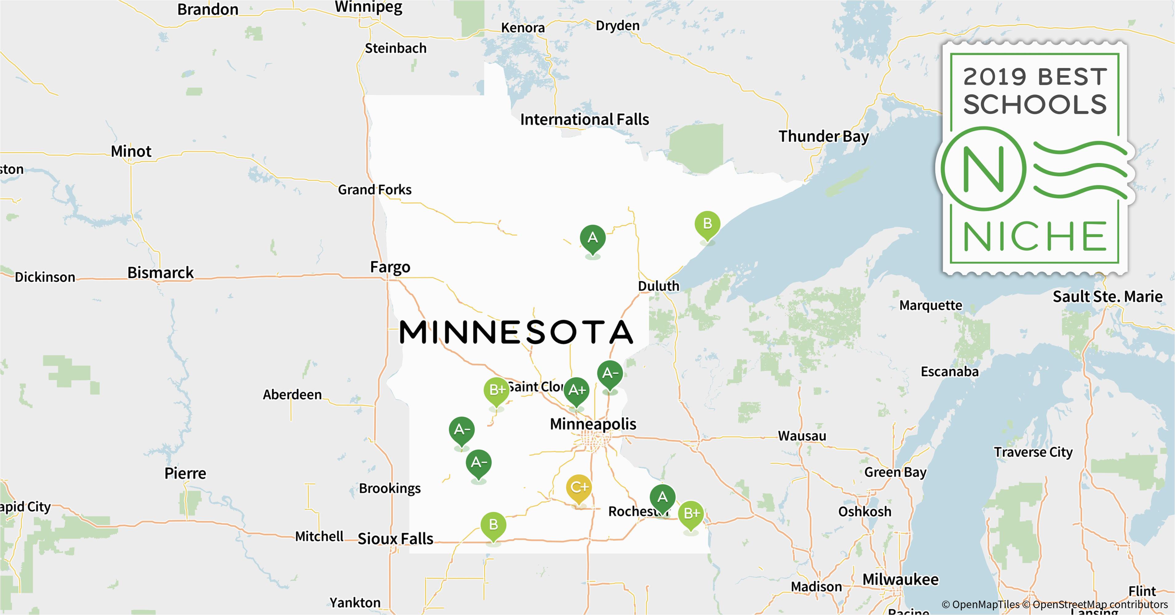 Map Of Minnesota School Districts 2019 Best Private High Schools In Minnesota Niche