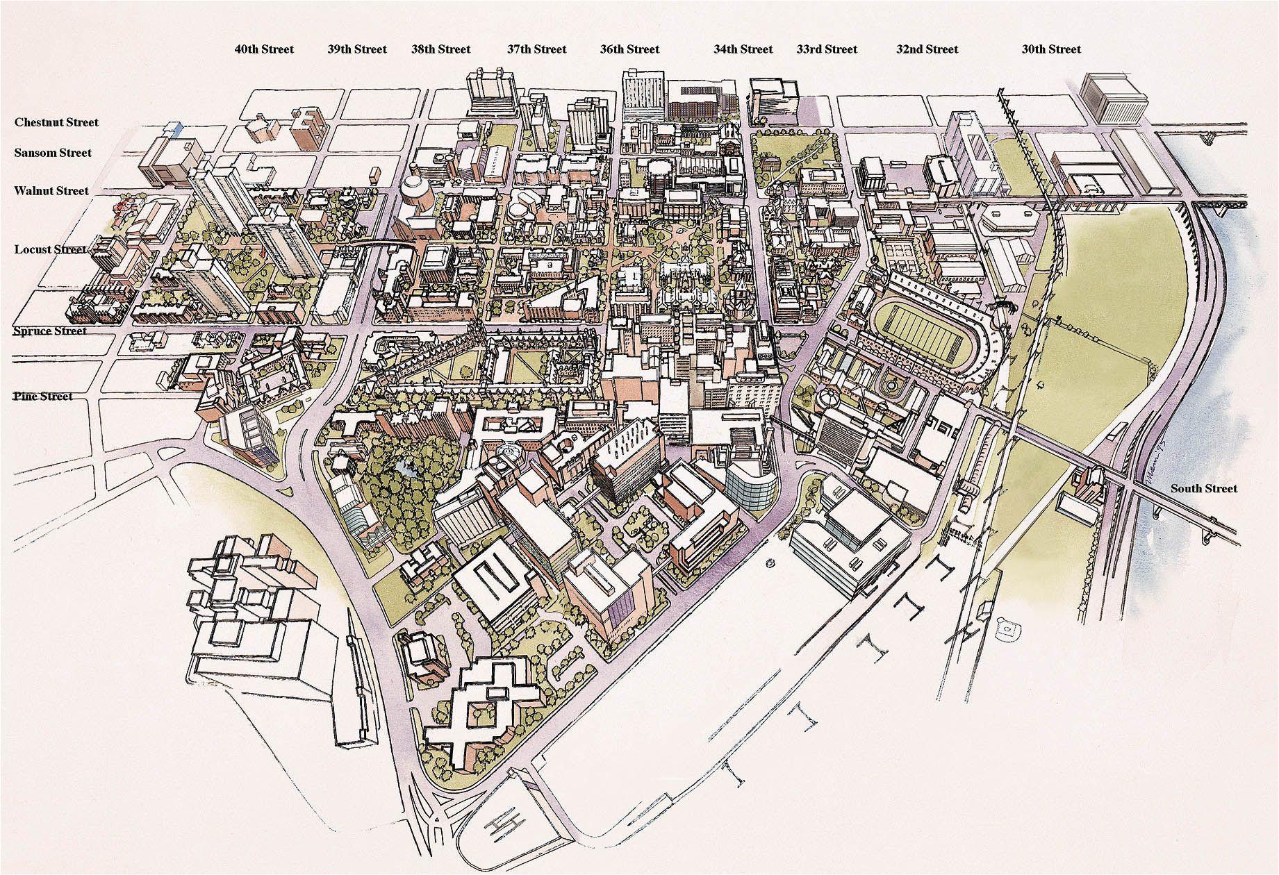 Map Of the University Of Minnesota Penn State University Park Map University Of Pennsylvania 3d