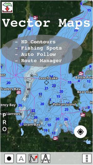 Maps Of Minnesota Lakes Minnesota Fishing Lake Maps Navigation Charts On the App Store