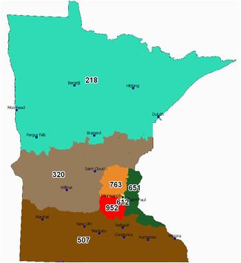 Minnesota area Codes Map area Code 952 Wikipedia