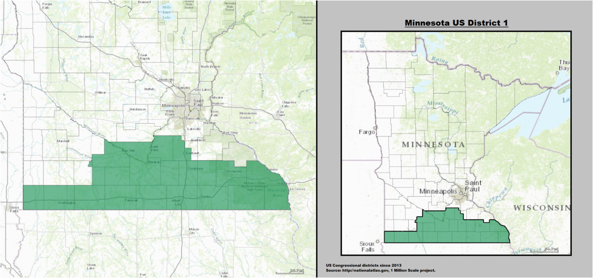 Minnesota Districts Map Minnesota S 1st Congressional District Wikipedia