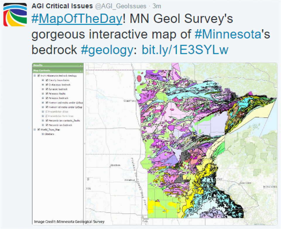 Minnesota Geological Map Critical issues Map Of the Day Minnesota S Bedrock Geology