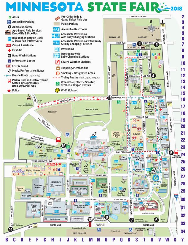 Minnesota Travel Information Map Maps Minnesota State Fair