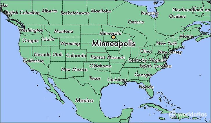 Minnesota Twin Cities Map where is Minneapolis Mn Minneapolis Minnesota Map Worldatlas Com