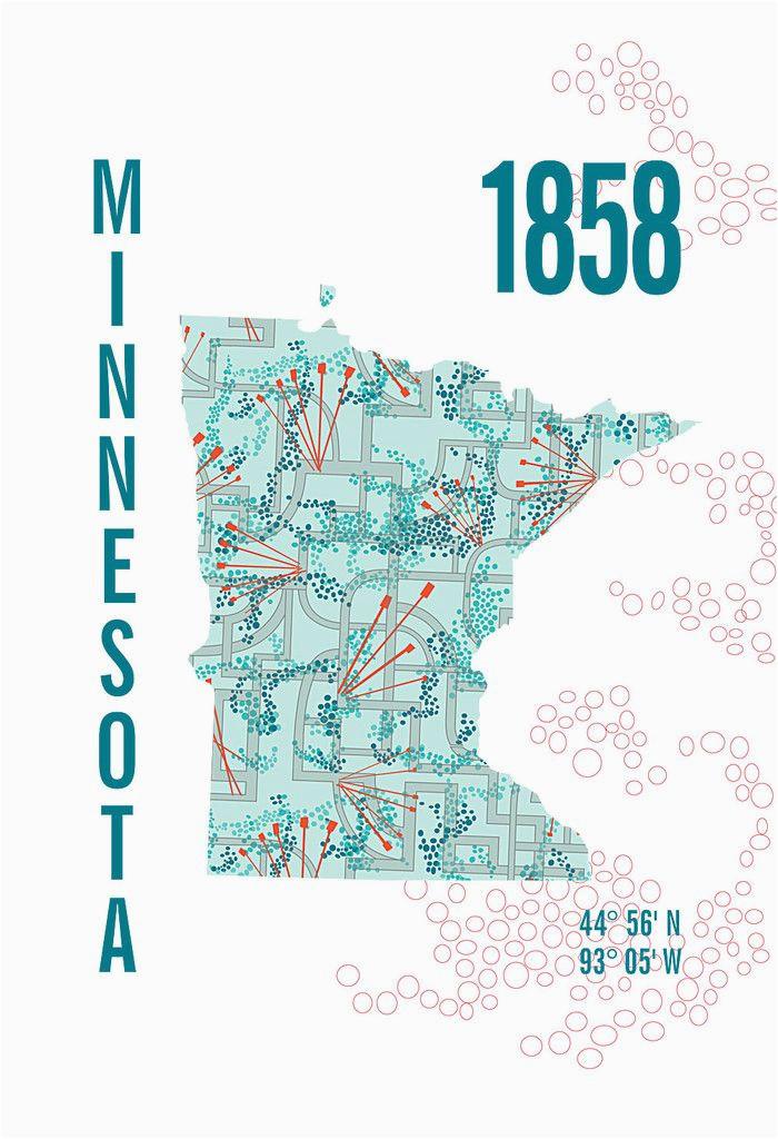 Minnesota Wetlands Map Minnesota Map Print Jhill Design Map Prints Things for My Wall