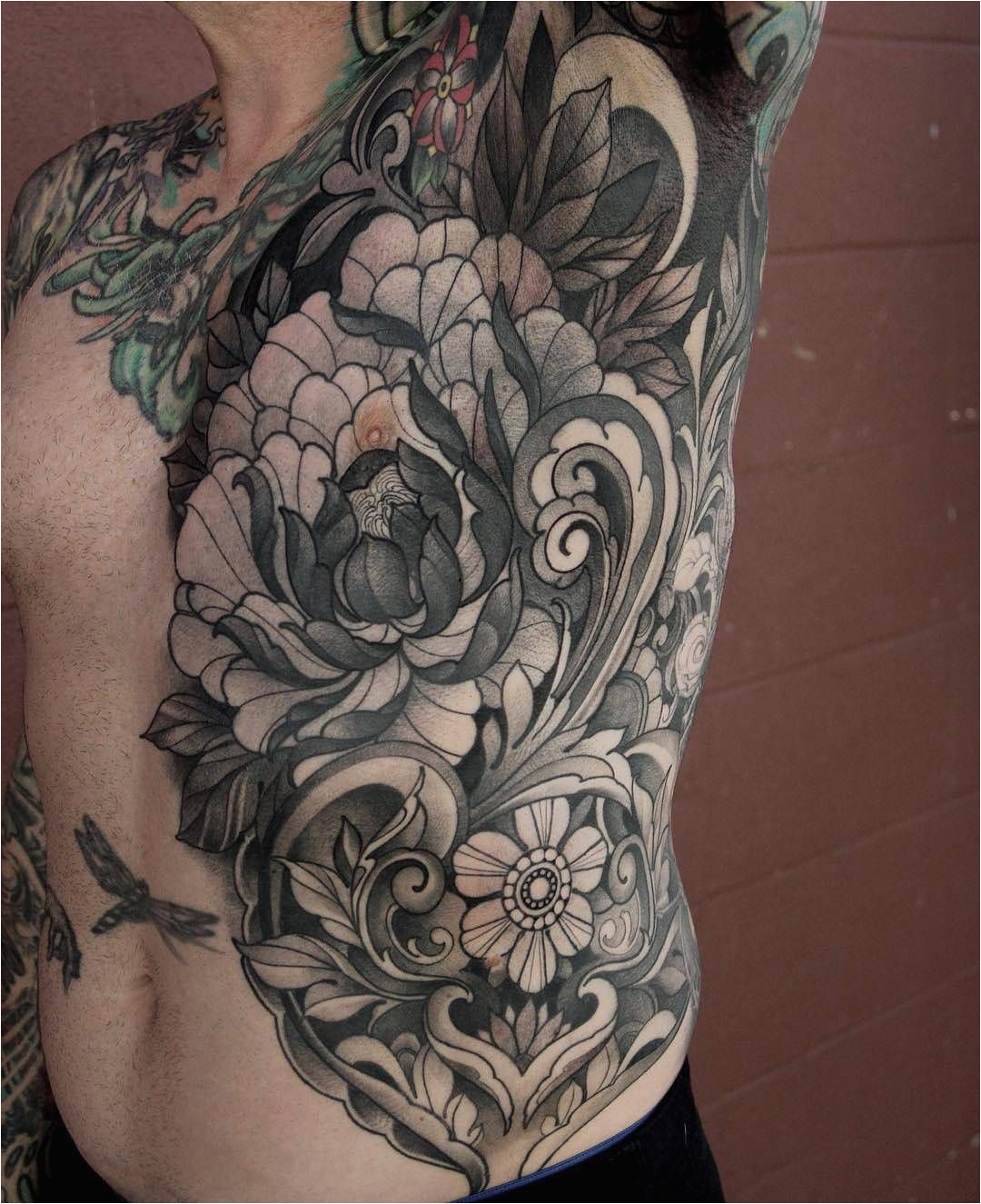 Off the Map Tattoo Grants Pass oregon Floral torso Tattoo by Laurajadetattoos at Offthemaptattoo In