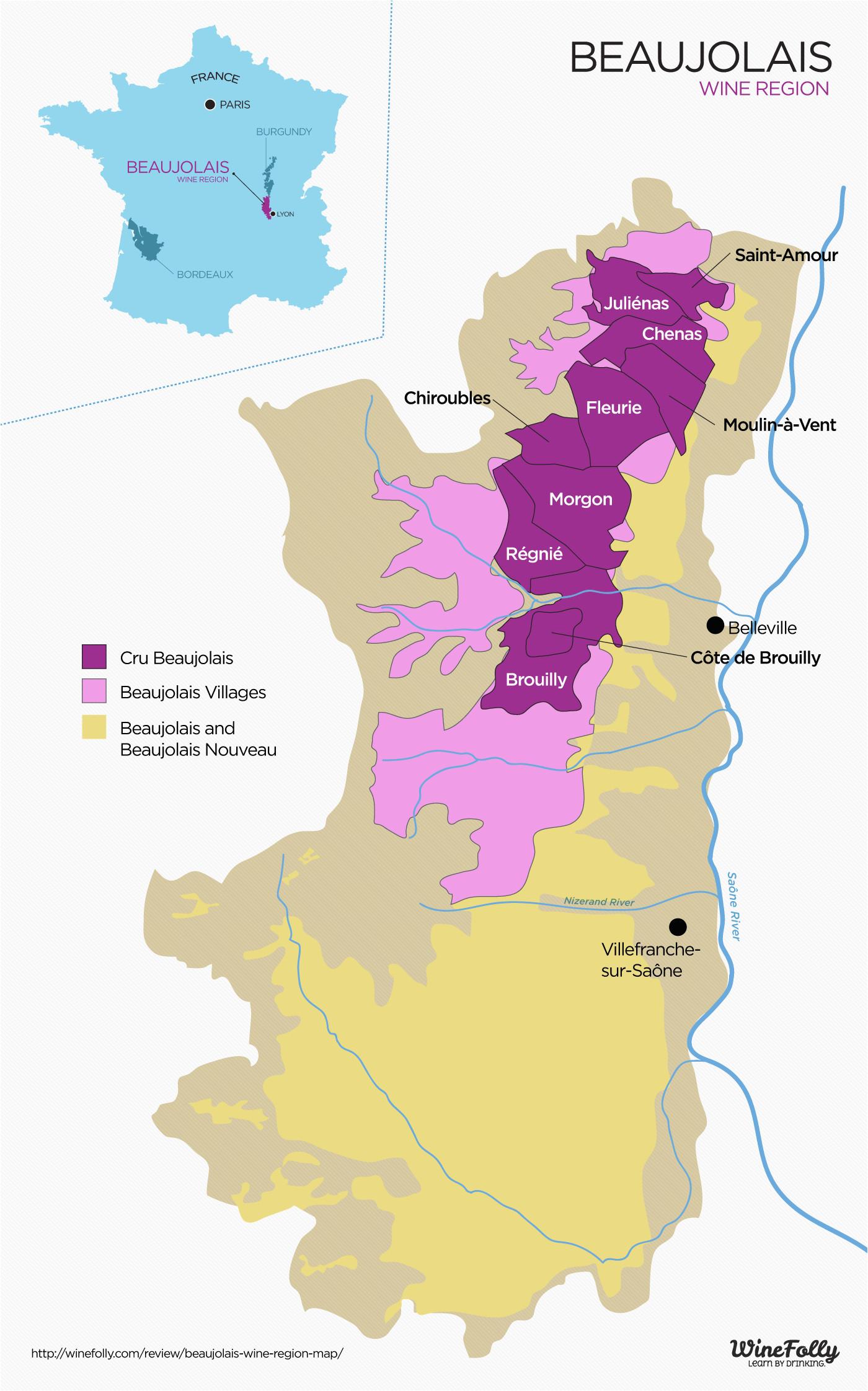 Oregon Vineyards Map the Secret to Finding Good Beaujolais Wine Vine Wonderful France