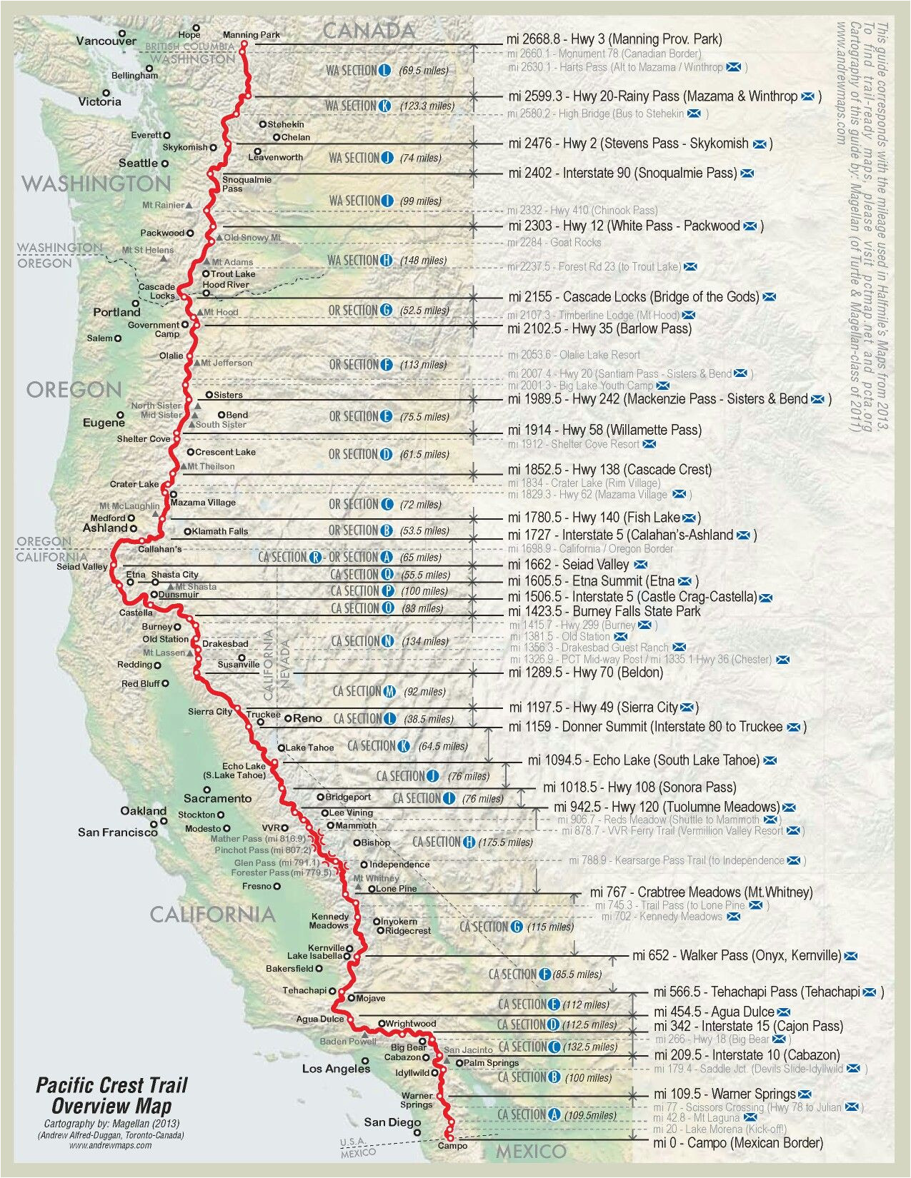 Pacific Crest Trail oregon Map Pin by Matthew Paulson On Pacific Crest Trail Thru Hiking Hiking