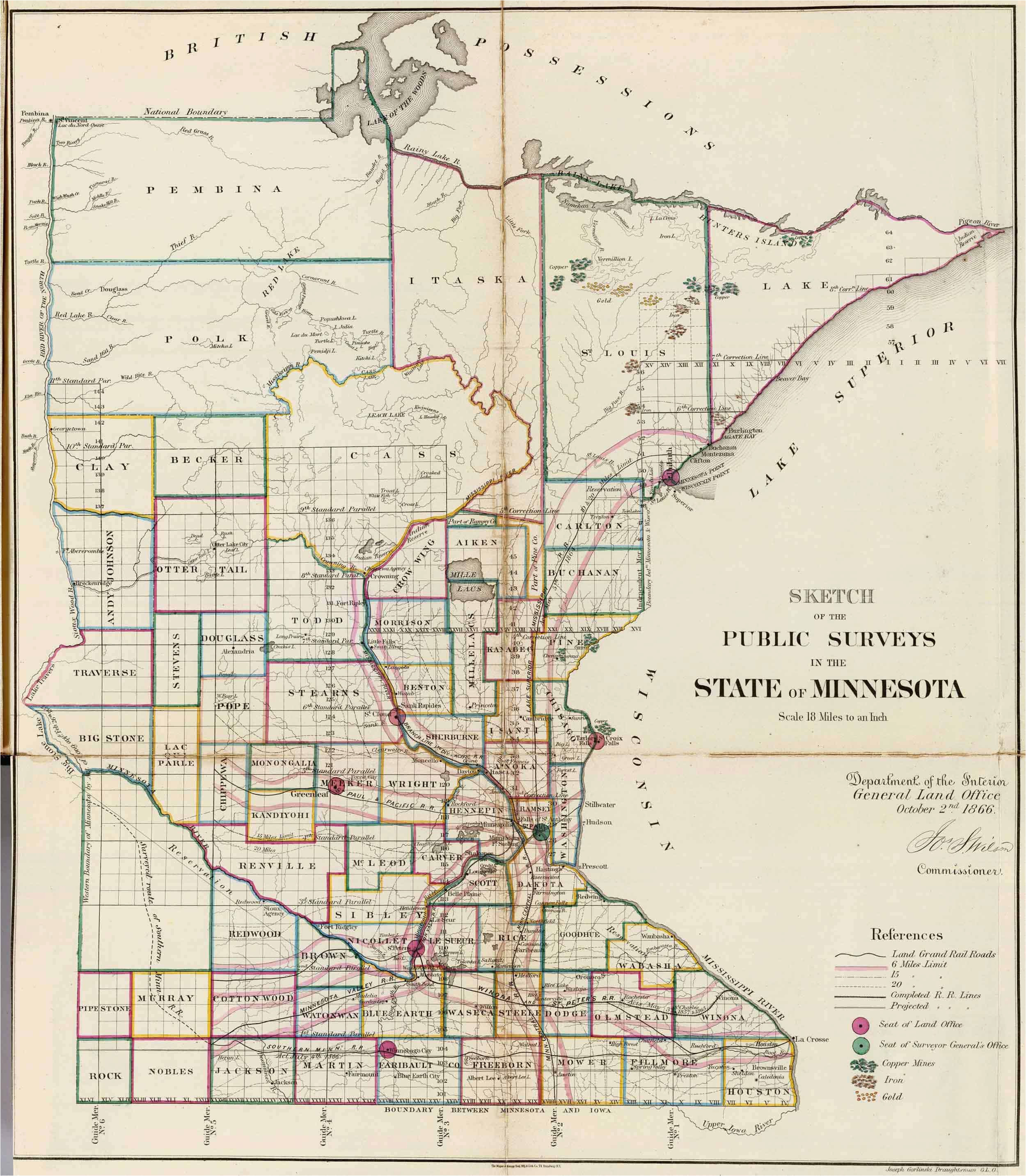 Rochester Minnesota Map Old Historical City County and State Maps Of Minnesota