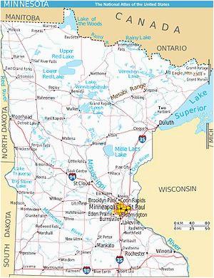 Where is Minnesota On the Map Mesabi Range Wikipedia