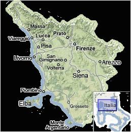 Cities In Tuscany Italy Map Tuscany Map Map Of Tuscany Italy