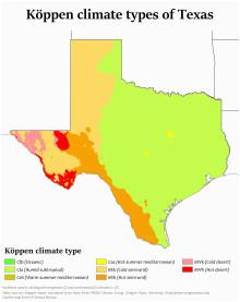 Climate Map Texas Texas Wikipedia