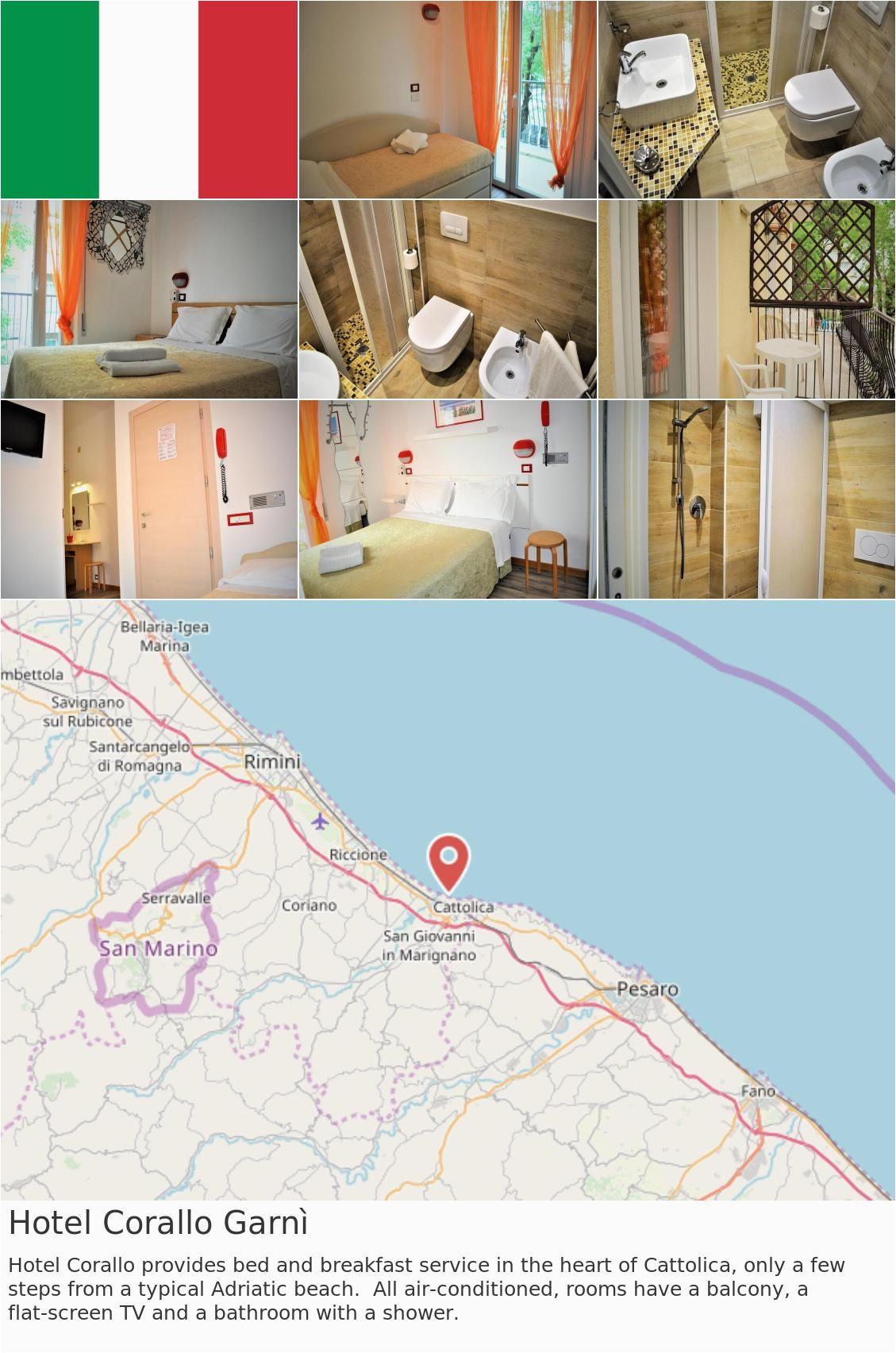 Fano Italy Map Europe Italy Cattolica Hotel Corallo Garna Hotel Corallo Provides