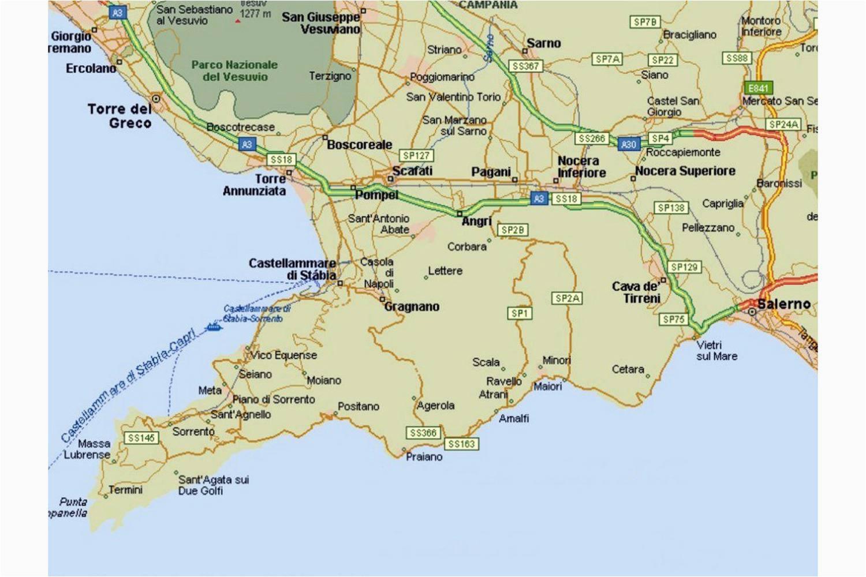Google Maps Salerno Italy Amalfi Coast tourist Map and Travel Information