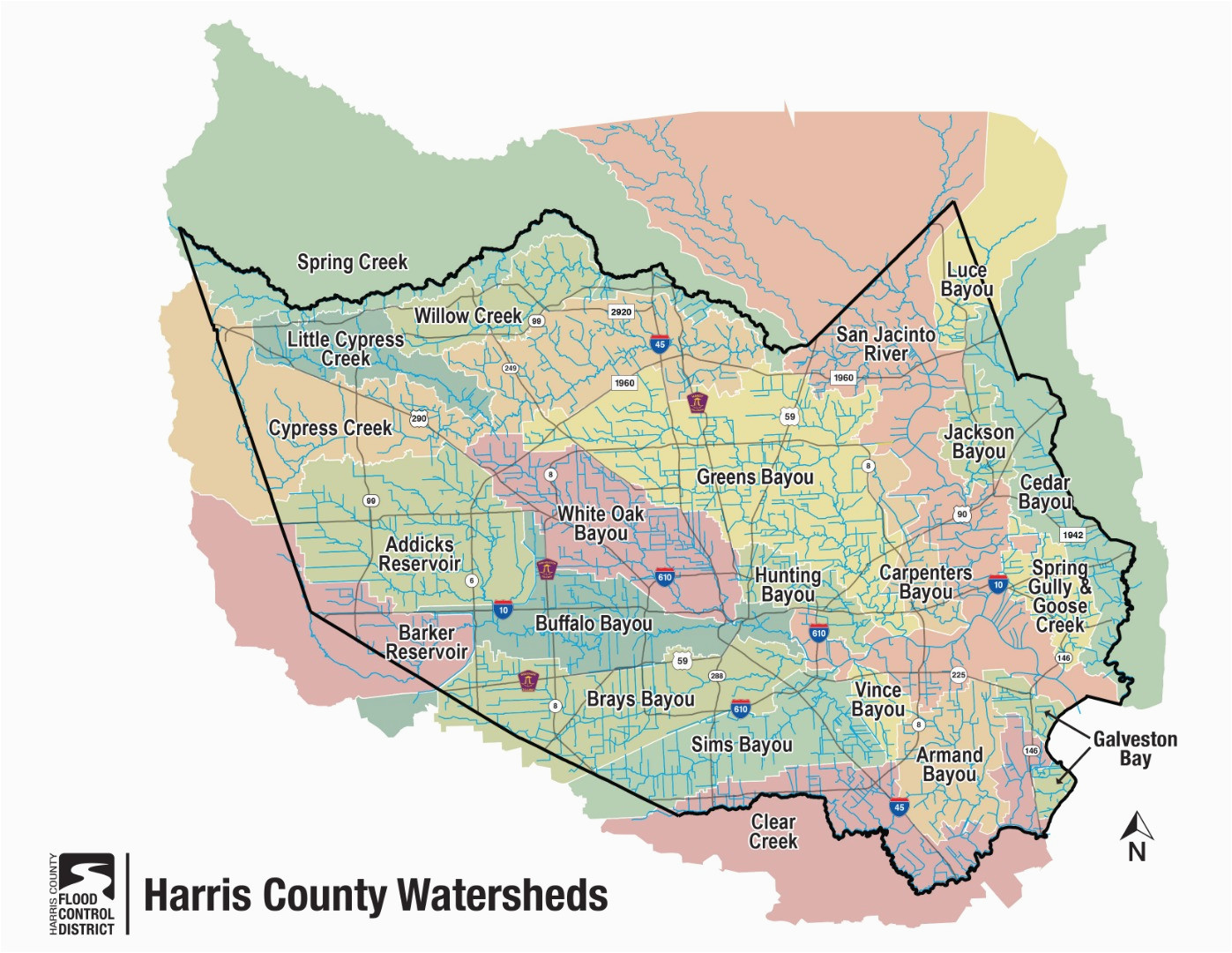 Harris County Texas Precinct Map Hcfcd Harris County S Watersheds
