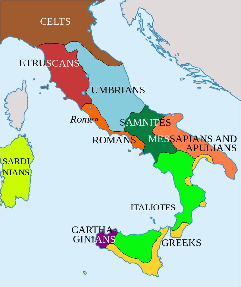 Italy Map by Region Italy In 400 Bc Roman Maps Italy History Roman Empire Italy Map