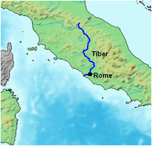 Italy Map with Rivers Tiber Wikipedia