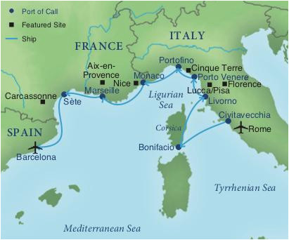 Italy Riviera Map Cruising the Rivieras Of Italy France Spain Smithsonian Journeys