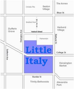 Little Italy toronto Map 10 Best Little Italy toronto Images Little Italy toronto the