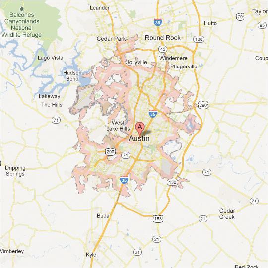Map Of Austin Texas and Surrounding area Texas Maps tour Texas
