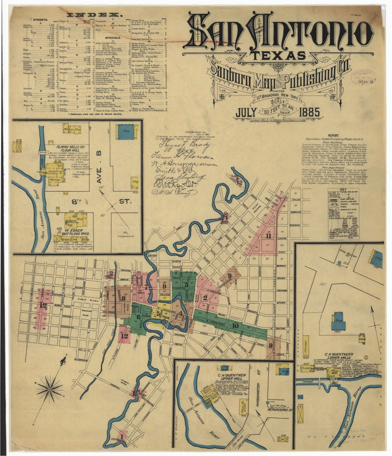 Map Of Bandera Texas Historic Maps Show What Downtown San Antonio Looked Like Back In