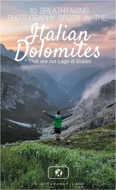 Map Of Dolomites In Italy 10 Alternative Photography Spots to Lago Di Braies In the Italian