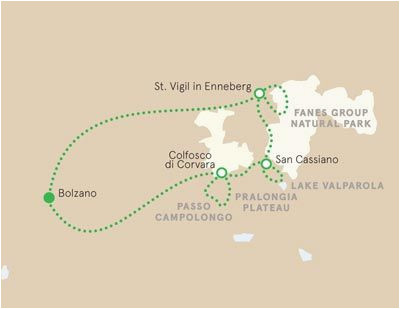 Map Of Dolomites Italy Dolomites Italy Map Italy Dolomites In 2019 Hiking tours Italy