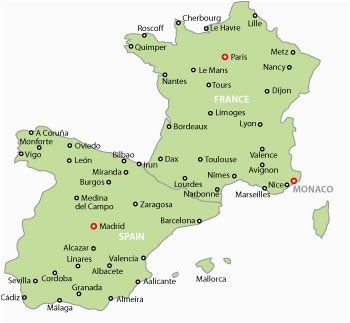 Map Of France Spain and Italy Map Of France and Spain Map Of Spain and France with Cities May