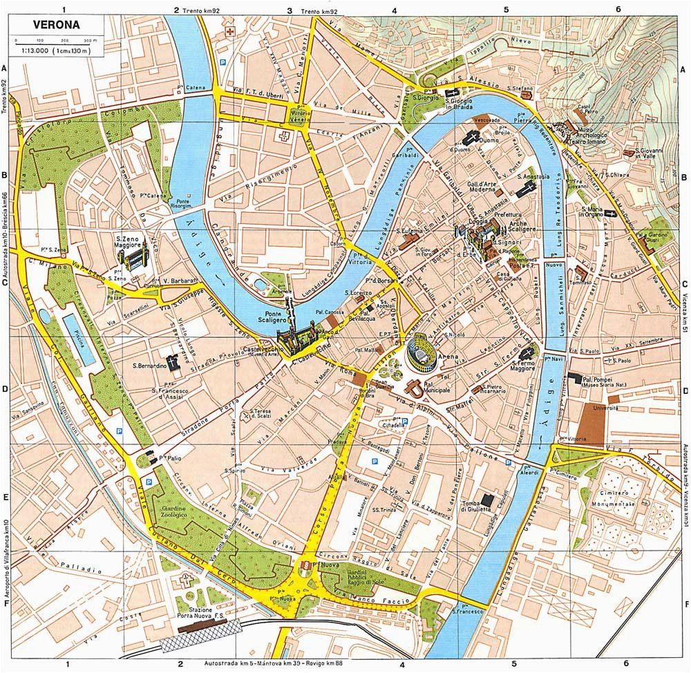 Map Of Italy for tourists Verona tourist Map Italy Ciao Bella Verona Italy Verona Map