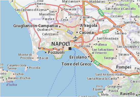 Map Of Naples Italy area Map Of Naples Michelin Naples Map Viamichelin