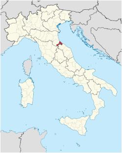 Map Of Rimini Italy Province Of Rimini Wikipedia
