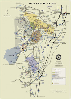 Map Of Texas Wineries Wv Wineries Map Poster Portland and Willamette Valley Region
